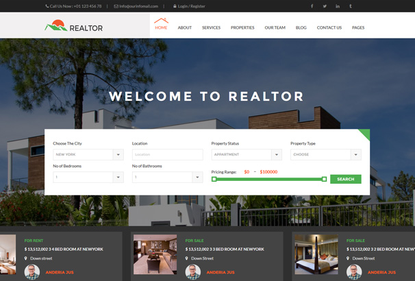 Best WordPress Real Estate Themes 2017 Agencies Realtors Directories