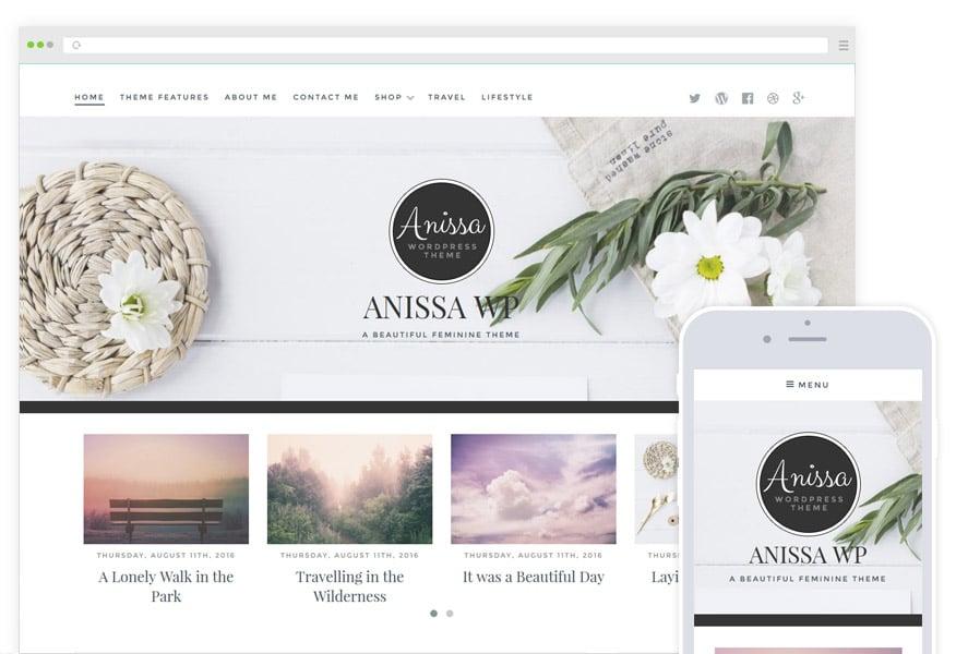 Anissa - Feminine Blog & WooCommerce WordPress Theme