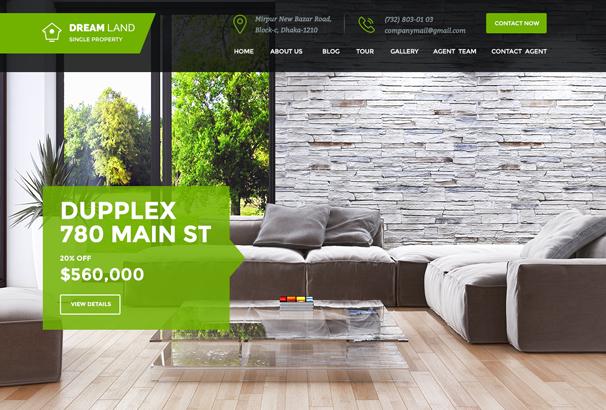 We Have Created The Theme With Real Life Experience 2 Types Of Headers One Page And Multipage Right Fit For Selling Your Villa Land Apartment