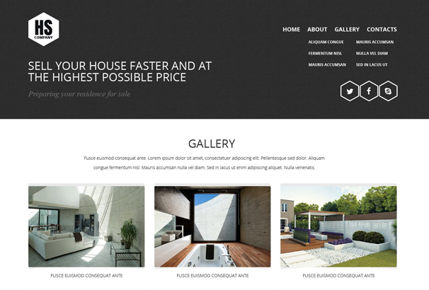 This Home Staging Site Template Ensures A Dynamic Look. Combined With A .