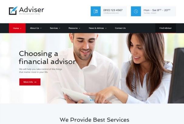 50+ Best Financial Company WordPress Themes 2017