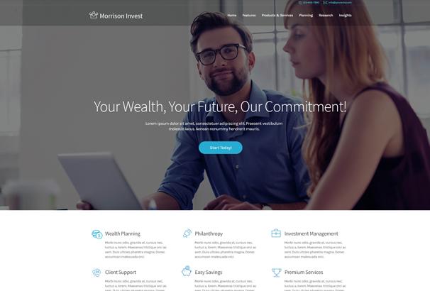 40+ Best Accountant WordPress Themes 2017