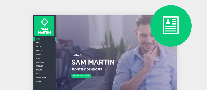 Online CV Resume WordPress Themes