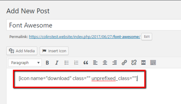 Add Font Awesome Icons to WordPress