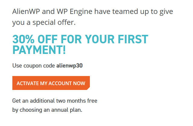 Wpengine coupon code 30 discount 5 months free 2018 activate account fandeluxe Gallery