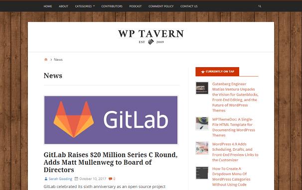 WP Tavern News