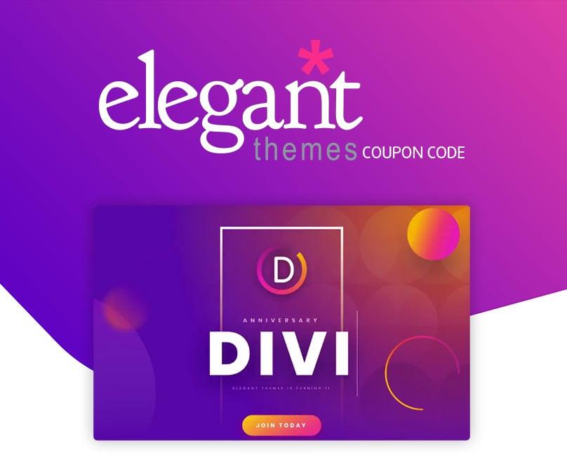 Elegant Themes Coupon Code Divi Promo 25 Off Nov 2020